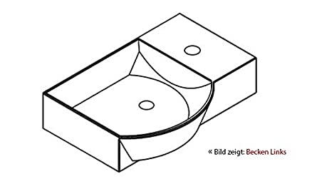 Lanzet K3in ceramica bacino/Bagno per gli ospiti/bianco/45x 10,5x 32cm