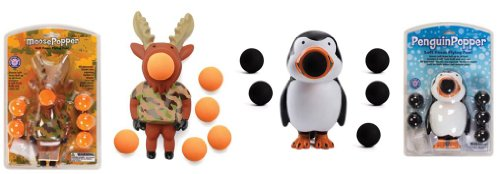 Moose Popper and Penguin Popper (1 each) (Penguin Ball Popper compare prices)
