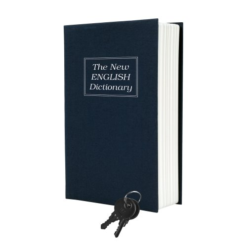 Trademark Home Dictionary Diversion Book Safe With Key Lock, Metal front-217891