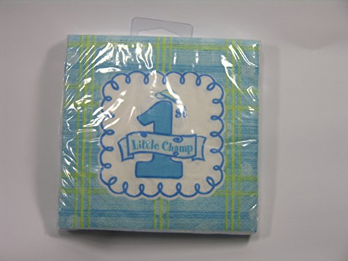 "1st Little Champ Birthday Party 7"" Square Plates"