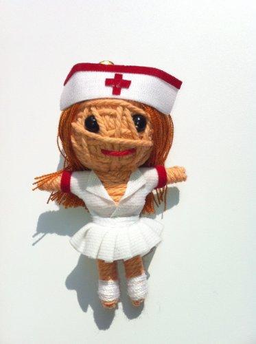 Naughty Nurse Voodoo String Doll Keychain NEW 2012