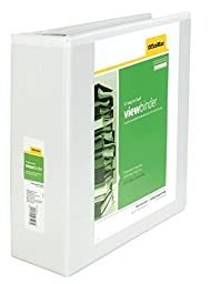 OfficeMax Heavy-Duty Easy-to-Load Slant D-Ring View Binder 4\
