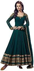 Vraj Raj Tex Women's Soft Net Unstitched Dress Material (Green)
