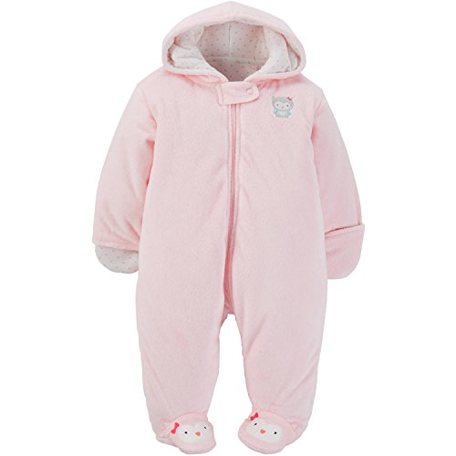 Child of Mine by Carters Baby Pram Boy and Girls Size (3-6 Month, Girl Pram Pink)