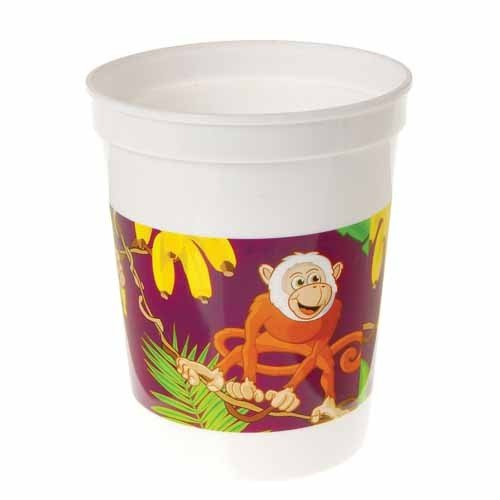 Plastic Monkey Cups 12 Count - 1