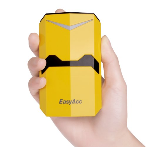 Easyacc® 9000Mah Dual Usb Output Power Bank Transformers Designed Portable Phone Charger External Battery Pack For Iphone Samsung Galaxy Htc Android Smartphone Ipad Tablets Pc Gopro Google Glass - Yellow