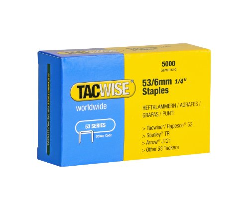 Tacwise Type 53 6mm Galvernized Staples (Pack of 5000)