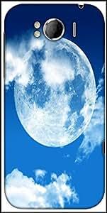 Snoogg Blue Sky Moon Designer Protective Back Case Cover For HTC Sensation Xl