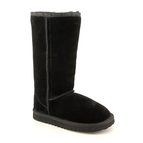 Ukala Sydney High Kids Youth Girls Size 1 Black Suede Winter Boots