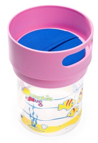 Imagen de Munchie Taza - Top Rated resistente a derrames Copa Merienda para los niños pequeños. De 1 a 4 años. Made in America. - BPA y libre de ftalato. FDA materiales compatibles - Top Pink.