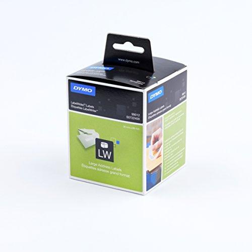 Dymo LabelWriter Étiquettes d'Adresses Grand Format Adhésif Permanent 36x89mm - 2 Rouleaux de 260 Etiquettes
