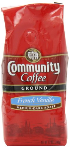 Community Coffee Ground Coffee, French Vanilla, 12-Ounce Bags (Pack Of 3)