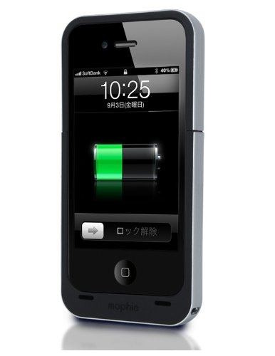 Juice Pack Air for iPhone 4 ブラック MOPーPH