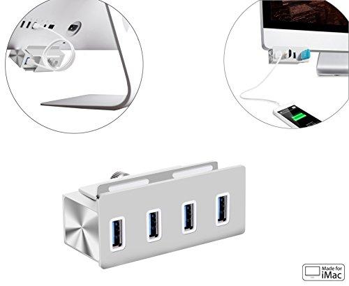 Cateck® USB 3.0 高速4ポートハブ 一体型ケーブル アルミ製 USB1.1/2.0互換 18ケ月保証
