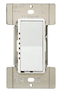 Leviton MDI06-1LW Decora Mural Digital Dimmer 600-Watt 15A 120V White