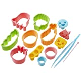 CuteZCute Bento Ham Cheese Carrot Cutter, 14-Piece, Fun Shapes