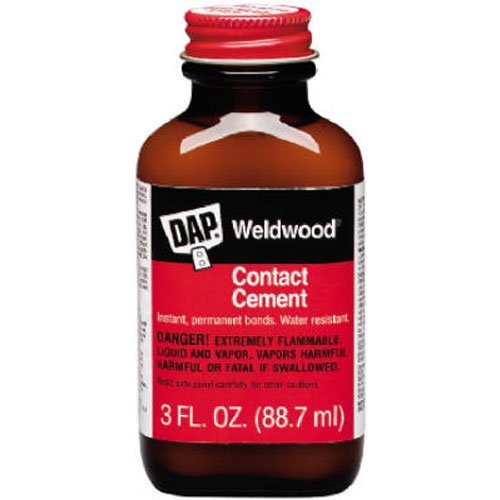 Dap 107 3-Ounce Weldwood Contact Cement via Amazon