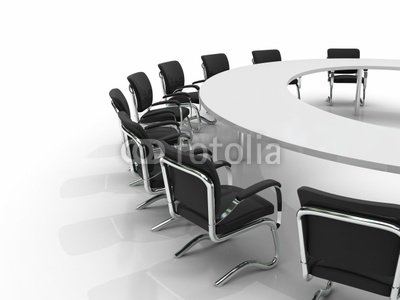 "Wallmonkeys Peel and Stick Wall Decals - Conference Table and Chairs - 24""W x 18""H Removable Graphic"