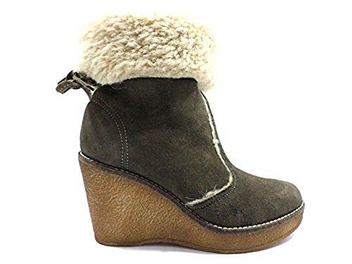 scarpe donna SERAFINI 41 tronchetto verde camoscio KY223