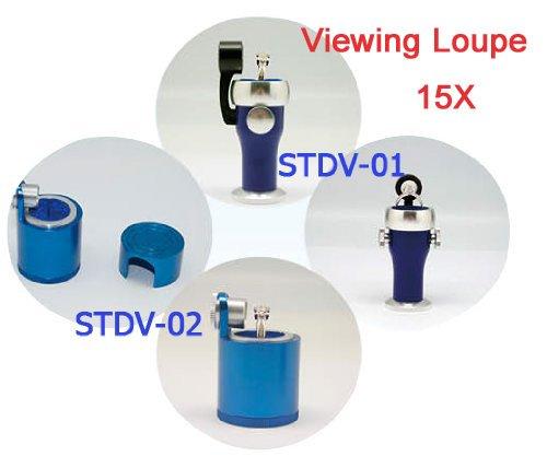 Sinotech Professional 15X Laser Inscribed Diamond Lens Housing Mini Type Loupe Measuring Microscope Stdv-01