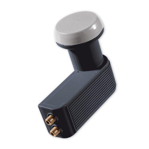 Schwaiger FLS992A 031 Universal-Twin LNB, 40mm, 0,2dB anthrazit
