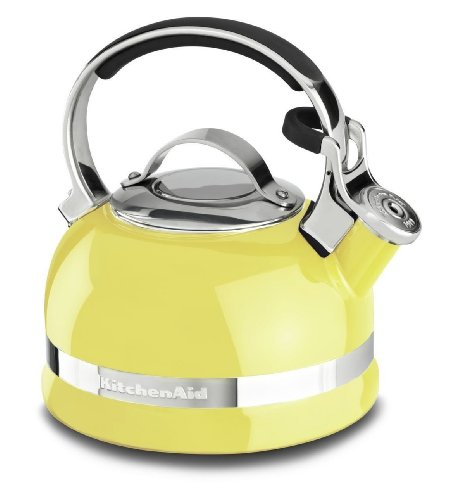 Kitchenaid 2-qt Steel Handle Band Tea Kettle Whistle Kten20sbis Citrus Sunrise Gift for Your Family