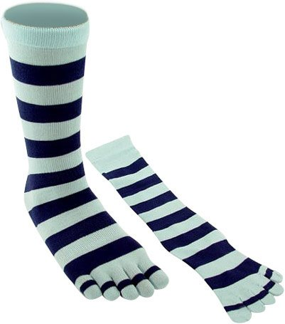 Adult Two Tone Blue Striped Knee High Toe Socks - Buy Adult Two Tone Blue Striped Knee High Toe Socks - Purchase Adult Two Tone Blue Striped Knee High Toe Socks (Brands On Sale Toe Socks, Apparel, Departments, Accessories, Women's Accessories)