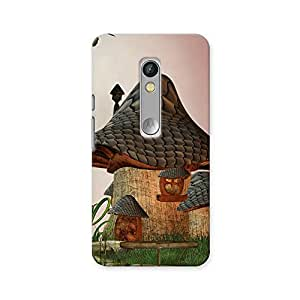 ArtzFolio Mushroom House : Motorola Moto X Play Matte Polycarbonate ORIGINAL BRANDED Mobile Cell Phone Protective BACK CASE COVER Protector : BEST DESIGNER Hard Shockproof Scratch-Proof Accessories