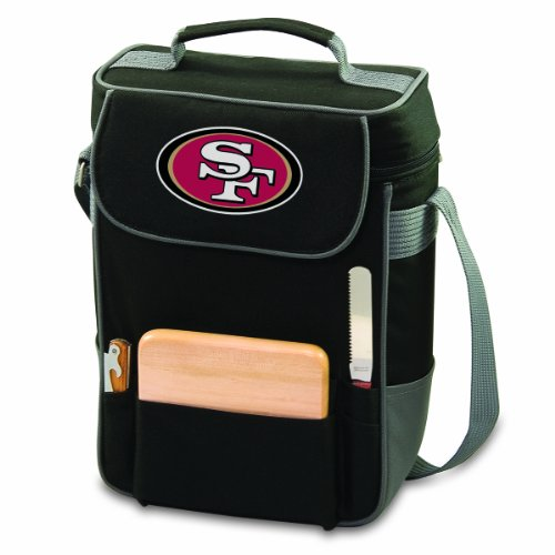 Nfl San Francisco 49Ers Duet Insulated 2-Bottle Wine And Cheese Tote front-624923