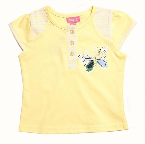 Minoti Baby Girls Yellow Butterfly Top (18-24 Months)