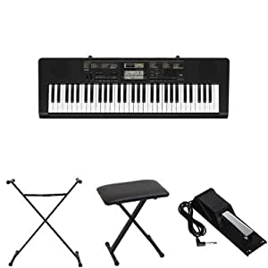Casio CTK2400 61-Key Personal Keyboard Bundle with