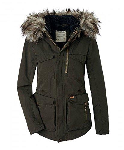 Khujo giacca invernale da donna Parka cappotto corto Dark Olive 330 XL
