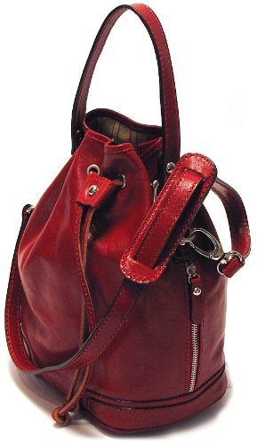 Floto Luggage Soft Lining Ciabatta Satchel, Tuscan Red, Small top price