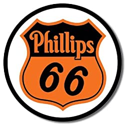Phillips 66 Shield Round Tin Sign 11.75&quot; Dia.