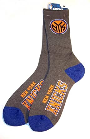 New York Knicks Charcoal Deuce Crew Socks Mens Size Large 10-13 by For Bare Feet