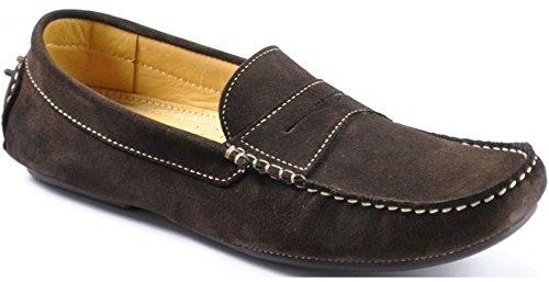 loake-mens-herbert-dark-brown-suede-driving-shoes-41-f-dark-brown