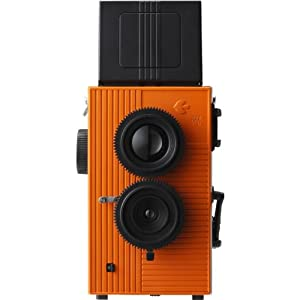 Blackbird Fly 35mm TLR Twin Lens Reflex Camera - Black with Orange Face [Camera]
