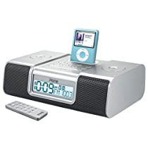 iHome iH9 Alarm Clock Speaker System with Dock for iPod (Silver)