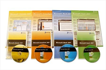 Microsoft Office 2007 Standard Total Training Bundle - Bundle of 4 Handy Software Reference Guides & 4 Computer Based Training (CBT) CDs - 1 for each Office 2007 Program: Word, Excel & PowerPoint & Outlook - Learn Computer Shortcuts, Cheats, Tips & Tricks Guides. 6 Pages Ea, Tri-Fold. Stores Easy.