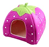 Demarkt Pet House Strawberry Dog Cat Soft Bed House Home (Small)