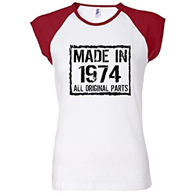Made In 1974 All Original Parts Women's Raglan T-Shirt