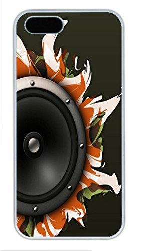 Iphone 5S Case And Cover -Abstract Speaker Pc Case Cover For Iphone 5 And Iphone 5S ¨C White