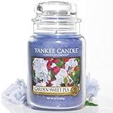 Yankee Candle Housewarmer Jar (Garden Sweet Pea) Medium (14.5 oz)