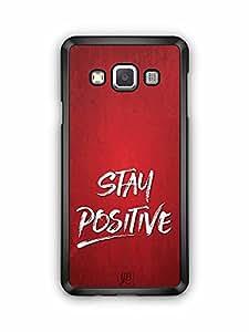 YuBingo Stay Positive Designer Mobile Case Back Cover for Samsung Galaxy A3