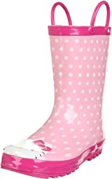 Western Chief Hello Kitty Polka Dotted Cutie Rain Boot (Toddler/Little Kid/Big Kid),Pink,9 M US Toddler