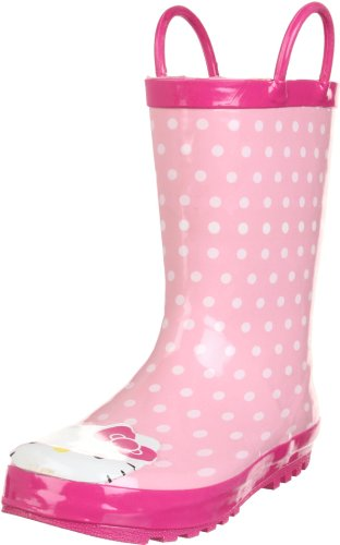 Western Chief Hello Kitty Polka Dotted Cutie Rain Boot (Toddler/Little Kid/Big Kid),Pink,11 M US Little Kid