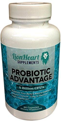 Recommended Probiotic Advantage Supplement - Great Healthy Lifestyle With Huge Benefits For Your Body - For Women + Men + Kids-5 Billion Probiotics Bacteria + Acidophilus + Bacillus Subtillus - All Natural Ingredients - Boost Digestive System - 60 Vegetar