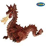 Papo 39016 Hand Painted Dragon with Flame - Red