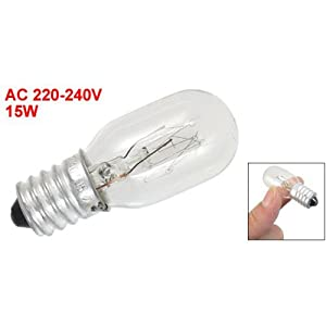 220-240V 15W T20 Single Tungsten Lamp E14 Screw Base Refrigerator Bulb from Sourcingmap