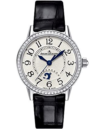 Jaeger LeCoultre Rendez-Vous Night and Day Silver Dial Diamond Leather Ladies Watch Q3468421